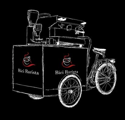 Bici Barista Manubrio koffie